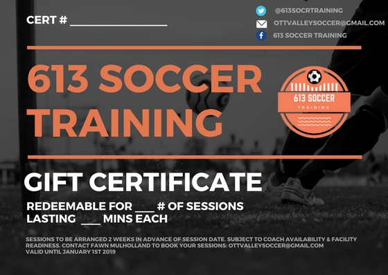 Sessions To be arranged 2 weeks in advance of actual date. Subject to coach availability & facility readiness. Contact fawn mulholland to Book your sessions ottvalleysoccer@gmail.com
